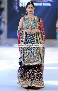 Indian Bridal Gharara Dresses Princeton New Jersey NJ US Karma Gharara Dresses D5530 Bridal Wear