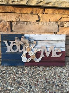 Custom You and Me Reclaimed LOVEBIRD Wood Sign, Perfect wedding gift anniversary engagement love home decor art gifts