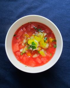 A Soup For Summer: Watermelon Gazpacho recipe — The Crunchy Radish Watermelon Gazpacho Recipe, Watermelon Radish, Vegetarian Entrees, Soup And Sandwich, Fruits And Veggies, Soups And Stews, Healthy Recipes, Dinner, Eat