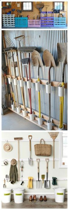 Shed DIY - You have a messy garage? So some clever storage ideas for storing your garden tools without spending a fortune. Make your own DIY Garden Tool Rack! Now You Can Build ANY Shed In A Weekend Even If You've Zero Woodworking Experience!