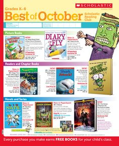 It's the Best of October 2013 Scholastic Reading Club Flyer!