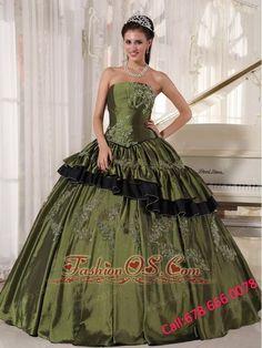 populor-olive-quinceanera-dress-strapless-taffeta-beading-ball-gown-3204-7.jpg (600×800)