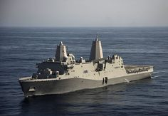PACIFIC OCEAN - Amphibious transport dock ship USS San Diego (LPD 22), with embarked 11th Marine Expeditionary Unit, departed the US 5th Fleet area of operations (AOO) and transitioned into the 7th Fleet AOO Jan 25, 2015. San Diego, a part of the Makin Island Amphibious Ready Group (ARG), which includes the flagship amphibious assault ship USS Makin Island (LHD 8) and the amphibious dock landing ship USS Comstock (LSD 45), rejoined the ARG who departed the US 5th Fleet AOO Jan 9, 2015.