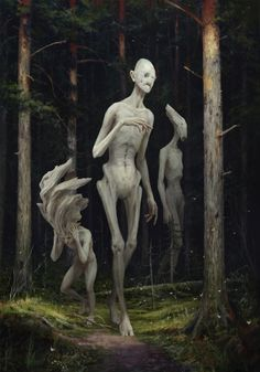 """Spirits"" Art by Sergey Averkin on Tag a friend! Inspiration for Shades of Evenfall, dark vampire fantasy by LD Bloodworth. Dark Fantasy Art, Fantasy Kunst, Arte Horror, Horror Art, Monster Design, Monster Art, Art Sinistre, Art Noir, Arte Obscura"