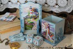 """Купить Комплект на письменный стол """"У моря"""" - голубой, письменный стол…"""