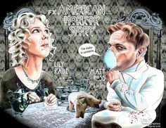 "American Horror Story 07x01 ""Nora & Charles"" by leekaygraphics on Flickr."