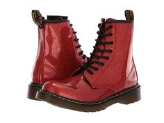 08029778ec1 Dr. Martens Kid's Collection 1460 Patent Glitter Youth Delaney Boot (Big  Kid)