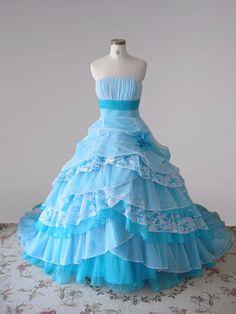 blue quinceanera dresses  | ... Dress By Color Blue Quinceanera Dresses Sugar Blue Lace Quinceanera