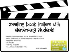 O Reads Books: Creating Book Trailers with Elementary Students Library Lesson Plans, Library Lessons, Library Ideas, Book Trailers, Book Club Books, Books To Read, Book Clubs, Library Book Displays, Elementary School Library