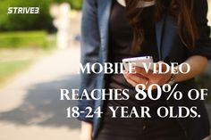 Mobile video is reaching an increasing amount of digital users. http://www.strive3.com/2016/11/6-social-media-best-practices/