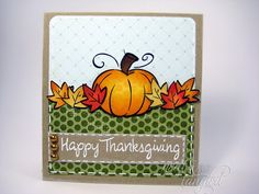 Thanksgiving card.  Lawn Fawn stamps!