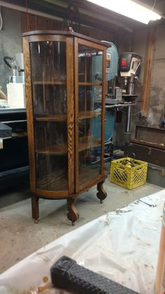 A cabinet retored at Walpole Woodworks China Cabinet, Woodworking, Storage, Projects, Furniture, Home Decor, Purse Storage, Log Projects, Blue Prints