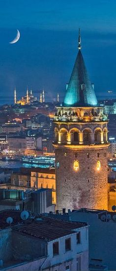 Galata Tower, Istanbul, Turkey - Explore the World, one Country at a Time… Places Around The World, Travel Around The World, Around The Worlds, Places To Travel, Places To See, Wonderful Places, Beautiful Places, Foto Picture, Sites Touristiques