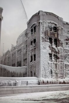 amazing photos from an fire in the winter #art #photo