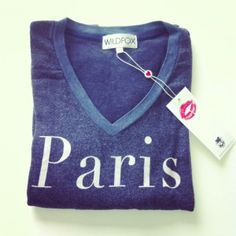 Wildfox - Paris V-Neck Baggy Beach Jumper available at http://www.maisonmiau.com