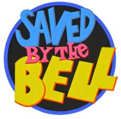 saved by the bell logo Childhood Images, 1980s Childhood, Childhood Memories, Bell Logo, Tv Show Logos, 90s Pop Culture, Right In The Childhood, Bell Art, Love The 90s
