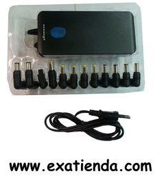 Ya disponible Alimentador port. Kloner 100w slim 12 conet+ USB autom?tico (por sólo 32.99 € IVA incluído):   -Cargador Universal AUTOMATICO  -Características: -Rango de entrada: AC 100V- 240V. 50/60Hz -Potencia de salida: 100W (max) -Voltaje de salida seleccionable: de 12V a 24V -Puerto USB 2.0 integrado, 5V 1A -Proteccion contra cortocircuito y sobrecalentamiento - 12 conectores   -P/N: KCU95      Garantía de 24 meses.  http://www.exabyteinformatica.com/tienda/1694-ali