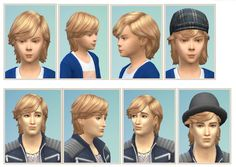 Longside Bangs for Boys and Males at Birksches Sims Blog via Sims 4 Updates
