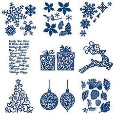 NEW Tattered lace Christmas florals coll die set of 7 dies. Description from ebay.co.uk. I searched for this on bing.com/images