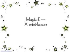 Magic E Lesson