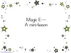 Magic E Lesson