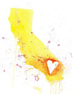5x7  California Love by poppyandpinecone on Etsy, $10.00