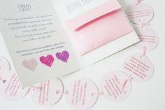 Convite Madrinhas com paleta de cores | Dois Papéis Conviteria | Elo7