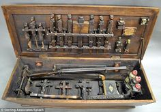 For sale: This vampire slaying kit is among hundreds of creepy items up for sale in a New Jersey auction