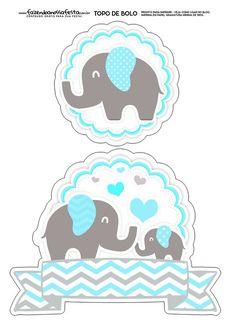 Topo de Bolo Elefantinho Azul Baby Shower Cakes, Baby Shower Invites For Girl, Baby Shower Themes, Baby Boy Shower, Baby Shower Gifts, Baby Gifts, Scrapbook Bebe, Baby Shower Souvenirs, Baby Shawer