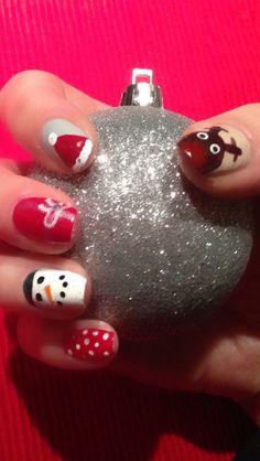 Christmas nails 2013 :)