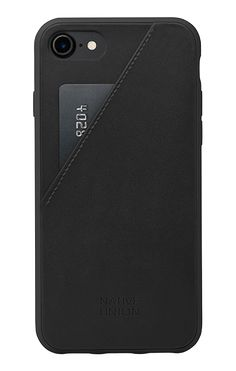 CLIC Card for iPhone 7 - Black Leather