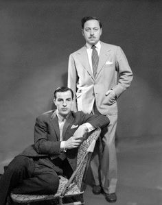 Tennessee Williams & Frank Merlo (seated).