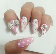 Want these so badly!  They're gorgeous! #floral #polkadot #bow #pink