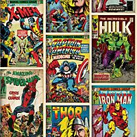 Graham and Brown Marvel Action Heroes Wallpaper - Multi