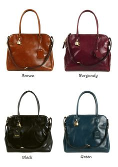 Premium glazed leather tote