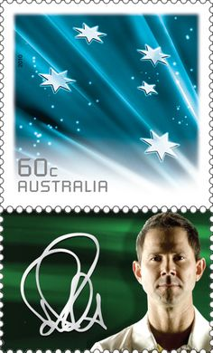 New #stamps recognising the outstanding sporting career and achievements of former Australian Test Cricket Captain Ricky Ponting  http://auspo.st/Yn1vcx