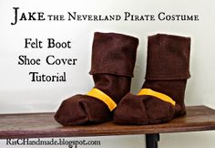 RisC Handmade: Jake and the Neverland Pirate Felt Boots and Belt Tutorial