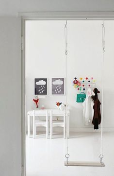 What a fun idea for indoors if you have enough room! Colour pop children's room The post What a fun idea for indoors if you have enough room! Colour pop children's appeared first on Children's Room. Indoor Swing, Indoor Play, Deco Kids, Decoration Inspiration, Kids Corner, Kid Spaces, Kids Decor, Boy Decor, Girls Bedroom