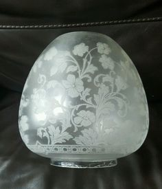 """Victorian Best Quality Engraved Crystal Etched Glass Oil Lamp Shade Duplex 4"""" A1 #Victorian #Lamps"""