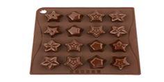 """MULTISTAMPO """"Stars"""" - PAVONI ITALIA s.p.a.  Stampo multiporzione n° 16 moduli, in silicone platinico.  Dimensioni piastra: 180x175mm Altezza Modulo: 25mm"""