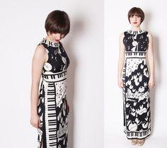 #piano #keys #dress #vintage