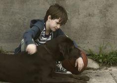 Saca un pañuelo y ve a un niño y su perro creciendo juntos