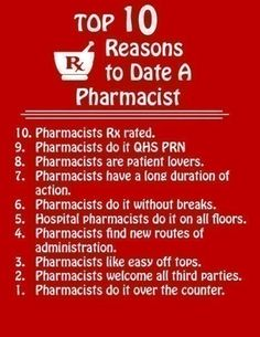 Reasons to Date a Pharmacist
