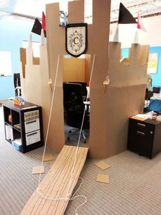 Now this is a cardboard castle! Apparently they want to protect the home office from invaders (or kids).