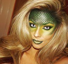Sexy reptile makeup