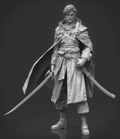 This is the first time we have published our student work on the zbrush forum, thanks to powerful zbrush. 3d Model Character, Character Modeling, Character Concept, Character Art, Concept Art, Character Reference, Warrior Girl, Fantasy Warrior, Action Figure One Piece