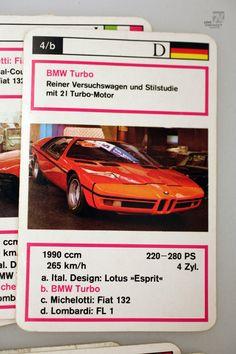 Prototypen FX. SCHMID Vintage / 1970's / Spielkarten / Quartett / Auto / lose in…
