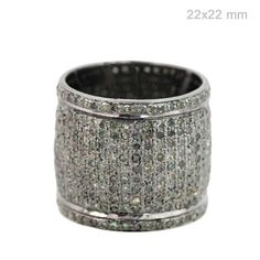 3.76 Ct Natural Diamond Pave Band Ring .925 Sterling Silver Vintage Look Jewelry #Handmade #Band