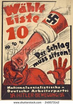 http://image.shutterstock.com/display_pic_with_logo/2733991/249573142/stock-photo-nazi-party-anti-semitic-poster-for-the-german-parliament-the-reichstag-political-campaign-249573142.jpg