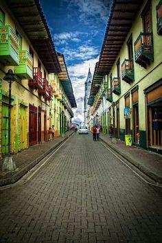 Calles de Santuario, Risaralda, Colombia